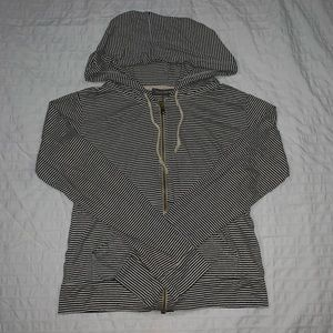 ⚡️ AEO Striped Zip Up Hoodie